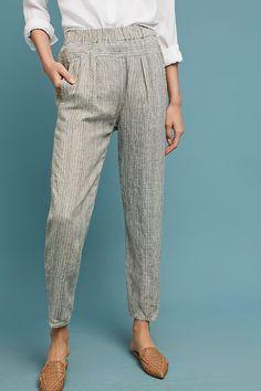 Slide View: 2: Striped Linen Pants