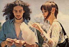 shelley duvall eating cotton candy by rebecca was a recluse, via Flickr