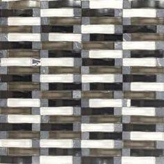 """Daltile Intertwine: Power Blend 5/8"""" x 2"""" Glass Mosaic Tile F175-12BLENDMS1P $16.99"""