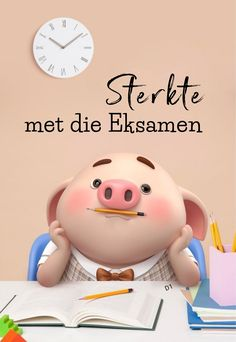 My Children Quotes, Quotes For Kids, Wisdom Quotes, Qoutes, Exam Wishes, Exam Quotes, Cute Piglets, Goeie Nag, Afrikaans Quotes
