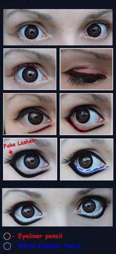 Manga eyes Tutorial [Make-Up] by JackyChip on deviantART