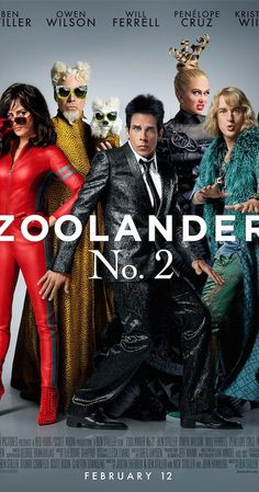 Directed by Ben Stiller.  With Olivia Munn, Benedict Cumberbatch, Penélope Cruz, Kristen Wiig. Derek and Hansel are modelling again when an opposing company attempts to take them out from the business.