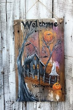 Best 40 Chic Scary Pumpkin Carving Ideas For Halloween In This Year - Retro Halloween, Spooky Halloween, Halloween Wood Crafts, Halloween Painting, Halloween Signs, Holidays Halloween, Holiday Crafts, Halloween Decorations, Halloween Party