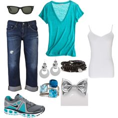 I want, created by vaultdiva on Polyvore.. not a fan of the tennis shoes tho, but love the rest!