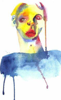 #art #watercolour #painting #illustration #colours #artist #artwork #blue #yellow