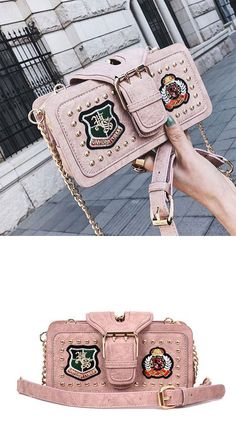 470c42993962 Unique Cute Girl s PU Leather Rivet Small Shoulder Bag