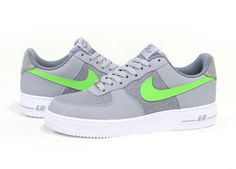 huge selection of c1d85 9394c Nike Air Force 1 Low – GreyWhite – Bright Green