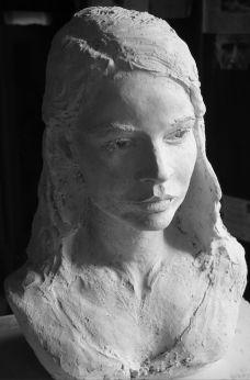 Buste de jeune femme - M - par Gérard Lartigue Lartigue, Statue, Art, Woman, Sculptures, Sculpture