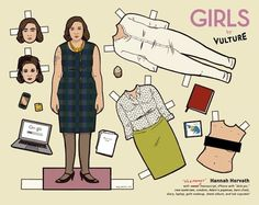 Paper Dolls from HBOs GIRLS series
