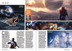magazine game layout Destiny Bungie, Destiny Game, Gaming Magazines, Magazine Layout Design, Movie Magazine, Magazine Spreads, Guardians Of The Galaxy, Graphics, Graphic Design