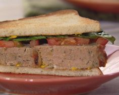 """His and Hers Turkey Meatloaf Sandwich (Boxed Lunch) - Trisha Yearwood, """"Trisha's Southern Kitchen"""" on the Food Network. Meatloaf Sandwich, Turkey Meatloaf, Food Network Recipes, Cooking Recipes, Kitchen Recipes, Sliced Turkey, Fodmap Recipes, Turkey Recipes, Meat Recipes"""