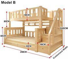 Louis Mode Kinder Etagenbett Echte Kiefer Holz Mit Leiter Treppen