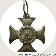 German States. Reuss - Principality.  Civil Ehrenkreuz silver 2nd class (younger line) Donated:. 1 January 1858 by Prince Heinrich LXVII. Awarded: 1858 - 1918