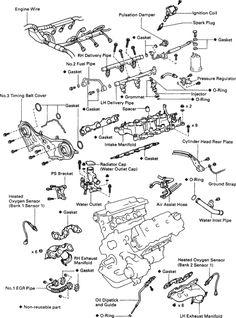 diy timing belt replacement toyota mzfe engine camry v6 avalon rh pinterest com 2004 Toyota Camry Engine Diagram 2000 Toyota Camry Engine Diagram