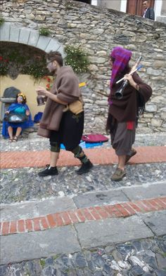 Scenes from the Mid Summer Festival at Triora - re-enactments and characters representing the history and traditions.