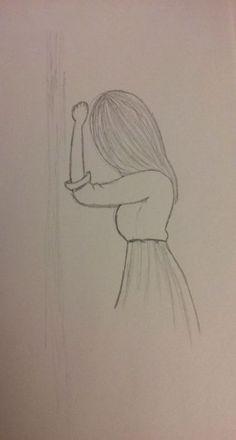 Drawing Girl Sad Easy Ideas # very easy drawings Easy Pencil Drawings, Easy Drawings Sketches, Girl Drawing Sketches, Sad Drawings, Cool Art Drawings, Girl Sketch, Beautiful Drawings, Drawing Ideas, Easy Drawings Of Girls