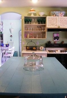 shabby chic anthropologie kitchen update on the cheap