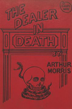 'The Dealer in Death, and other stories'. Book cover, 1897
