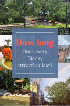 The length and duration of every attraction at in Orlando Florida. Every attraction at every park ranked from the longest experience to the shortest. Disney World Rides List, Disney World Attractions, Disney Rides, Walt Disney World Vacations, Disney Fun, Disney Vacation Planning, Disney World Planning, Disney Crowds, Orlando Florida