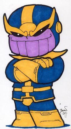 Chibi-Thanos 2. by hedbonstudios.deviantart.com on @DeviantArt