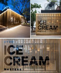 Facade house Materials used throughout this modern cafe include concrete, stone, wood, ceramic, marb Kiosk Design, Signage Design, Facade Design, Retail Design, Design Design, Graphic Design, Interior Design, Cafe Exterior, Exterior Signage