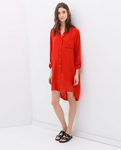 Image 1 of ASYMMETRIC TUNIC from Zara
