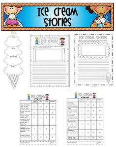 """Sarah's First Grade Snippets: Ice Cream """"Small Moments"""" Stories freebie with rubric"""