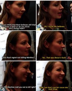 I want the vid! Amy Acker answering about Shaw situation! #PersonOfInterest