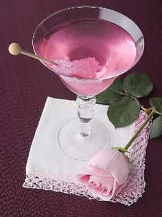 Pink cocktail...