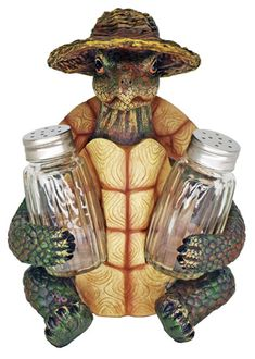 "Turtle Soup Salt & Pepper Shakers in uncletomstoystore's Garage Sale in Portland , OR for $25.00. Features: Decorative salt and pepper shaker set is made from highly detailed poly resin  Paint is baked into surface to prevent chipping  Salt and pepper shakers are made from glass  Overall height: 7"" this turtle well end up at your house in 7 to 14 days"