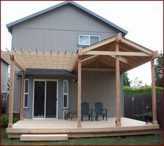 Pergola Ideas For Patio Petite Pergola, Small Pergola, Deck With Pergola, Pergola Patio, Decks With Roofs, Pavers Patio, Patio Stone, Modern Pergola, Patio Plants
