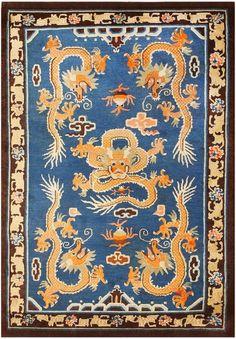 Antique Chinese Rug, Origin: China, Circa: Turn of the 20th Century Nazmiyal Antique Rugs, Vintage Carpets
