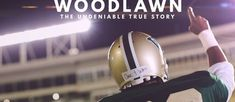 WOODLAWN is based on the true story of the integration of an Alabama high-school football team and the rise of former Miami Dolphins running back, Tony Nathan (well performed by Caleb Castille). This PG movie gives viewers a context for racial strife we are still feeling today but more importantly the solution for resolving that strife. High School Football, Football Team, Tony Nathan, Roma Downey, Incredible Film, Christian Films, Chicago Sun Times, African American Girl