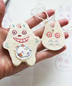 Make a cute Totoro Inspired Felt Pin for Kids.