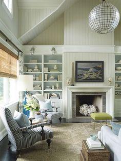 beautiful coastal family room