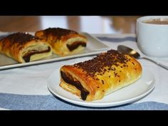 Chocolate-Filled Croissant (Pain au Chocolat) - Easy Puff Pastry Dessert Recipe - YouTube