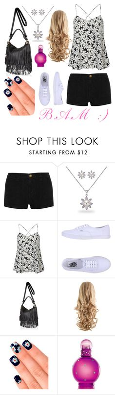 """Summer Concerts :)"" by minnochbe ❤ liked on Polyvore featuring Current/Elliott, Bling Jewelry, Glamorous, Vans, River Island, Elegant Touch, Britney Spears, women's clothing, women's fashion and women"