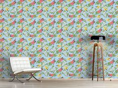 Design #Tapete Gemischtes Bouquet Flora, Delicate, Bouquet, Curtains, Rugs, Design, Home Decor, Self Adhesive Wallpaper, Wall Papers