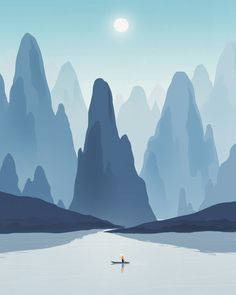 Love this. So calm. I'd love to have an entire wall of Dadu Shin prints.