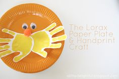 a little delightful: {craft} lorax week : handprint paper plate lorax