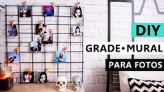 DIY Grade para fotos - Mural decoração com PALITO de Churrasco Grade Para Fotos, Bday Girl, New Room, Rustic Decor, Dyi, Photo Wall, Geek Stuff, Room Decor, Youtube