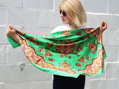 Traditions of Fabergé Silk Scarf / Shawl by St. Petersburg Global Trade House | Scarves | AHAlife.com