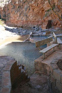"""Secluded Pah Tempe Hot Springs (Hurricane, UT - by Zion National Park). Reviewer said: """"For less than one hundred dollars, we had a private canyon, seven hot spring pools, two caves, a waterfall, and a great big chunk of the Virgin River all to ourselves for an entire morning."""""""