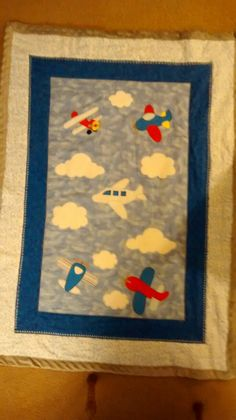 Air plane baby quilt Baby Memory Quilt, Baby Quilts, Baby Memories, Plane, Quilting, Handmade Items, Kids Rugs, Sewing, Home Decor