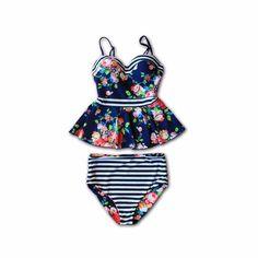 Breanne Floral Peplum Swimsuit - $94