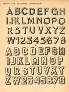 French Advertising Alphabets From 1946