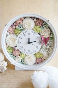 minne(ミンネ)| ◆ウェディングのお祝に♪プレゼントに♪♪花時計(ピンク)◆