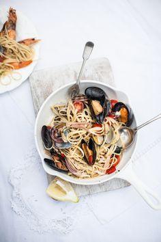 mussel spaghetti.