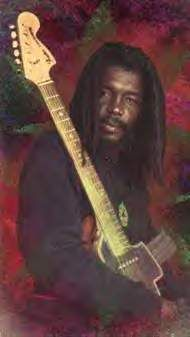 *Peter Tosh* With his M16 Rifle Stratocaster guitar. More fantastic pictures and videos of *The Wailers* on: https://de.pinterest.com/ReggaeHeart/