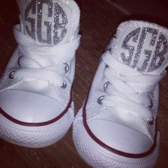 GLITTER MONOGRAM Baby, Toddler, Kids Chuck Taylor Converse